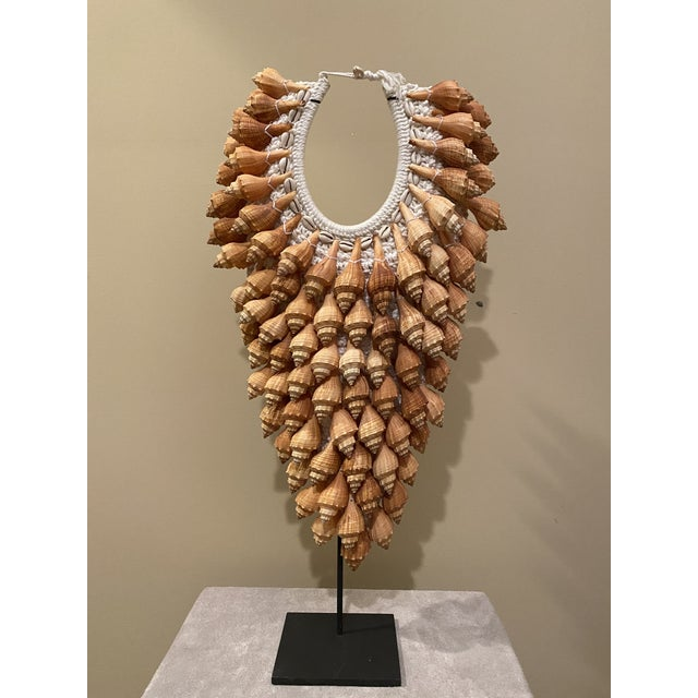 Asian Style Seashell Necklace on Stand For Sale - Image 12 of 12