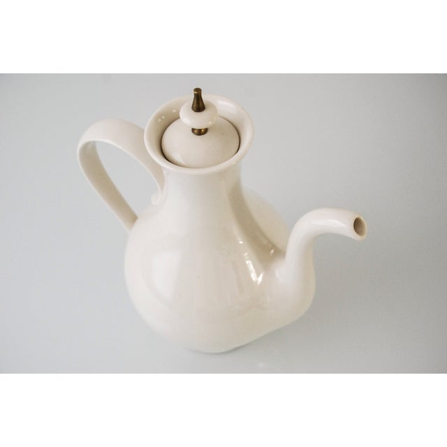 1960s Mid-Century Modern Porcelain Coffee Pot For Sale - Image 5 of 6
