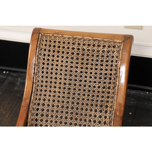 Pair of French 19th Century English Children's Chairs With Cane Backs and Seats For Sale - Image 9 of 11