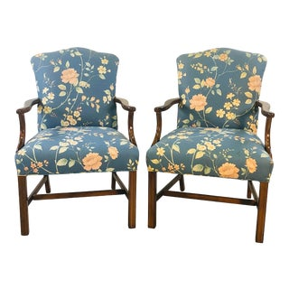 1970s Stow Davis Executive Armchairs, - a Pair For Sale
