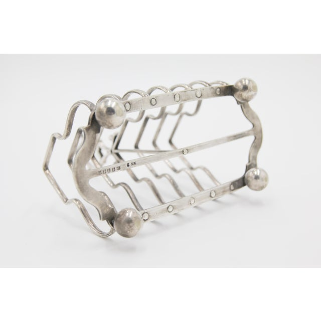 Antique English Silver Plate Toast Rack For Sale In Houston - Image 6 of 8