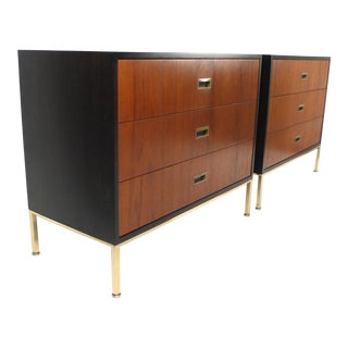 Matching Pair of Three-Drawer Chests by Harvey Probber