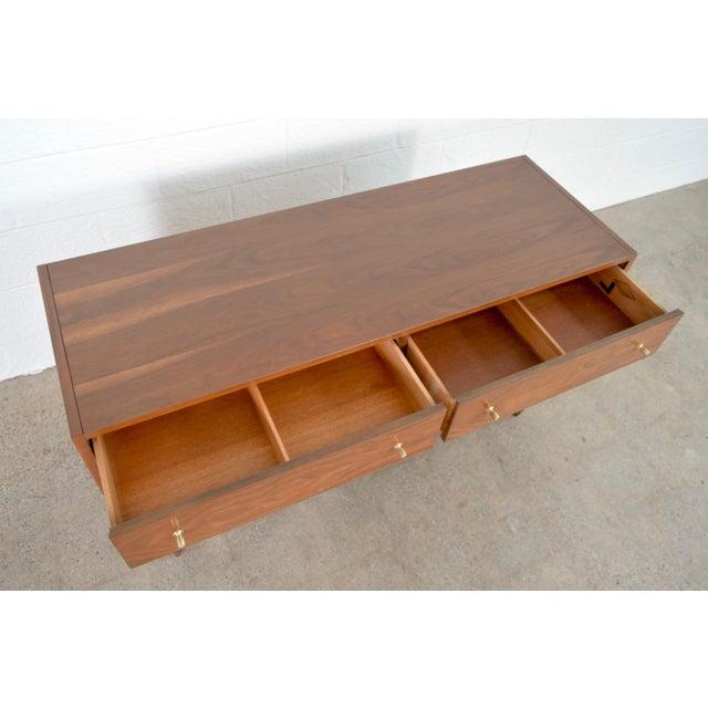 Mid Century Mt. Airy 6-Drawer Lowboy Walnut Dresser For Sale In Detroit - Image 6 of 11