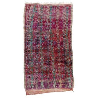 """Vintage Berber Moroccan Rug - 6'9"""" X 12' For Sale"""