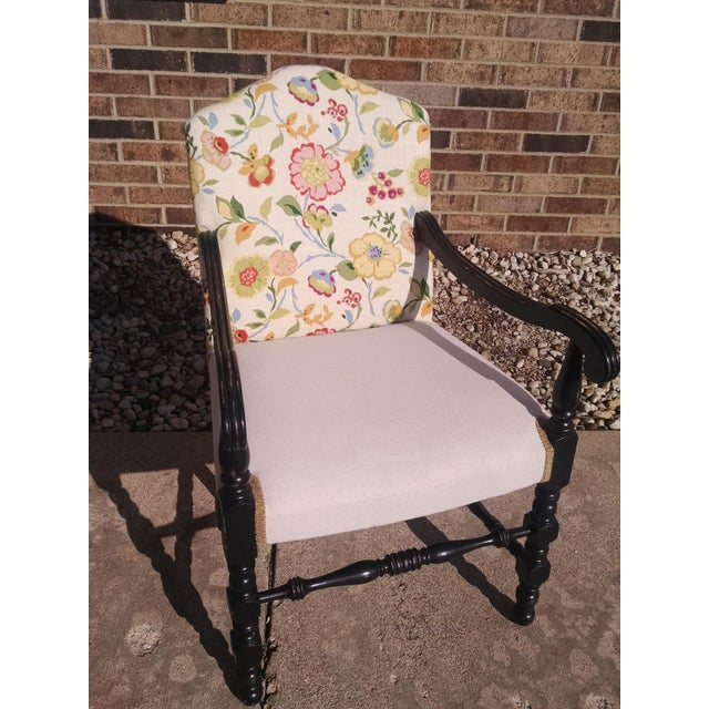 Vintage French Floral Accent Chair - Image 2 of 8