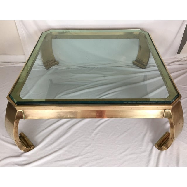 Karl Springer Brass Coffee Table - Image 3 of 7