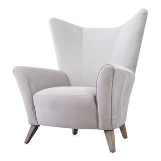 Modern Velvet Wingback Chair For Sale
