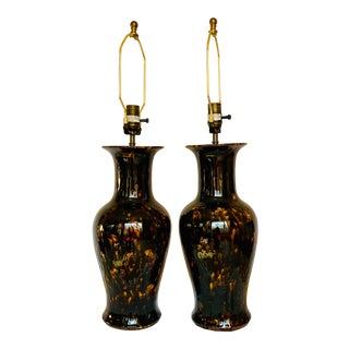 Fishtail Vase Table Lamps by Vaughan Designs - a Pair For Sale