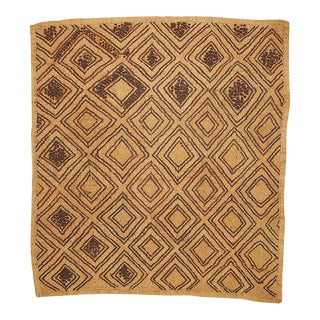 Vintage Handwoven Kuba Textile Art For Sale