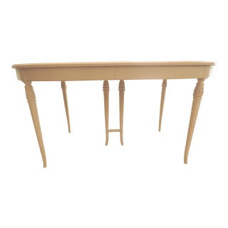 1960s French Country Solid Wood Dining Table For Sale