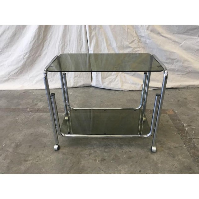 Metal Mid-Century Modern Drink Cart Server For Sale - Image 7 of 8