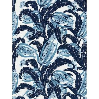Scalamandre Tropique, Marine Fabric For Sale