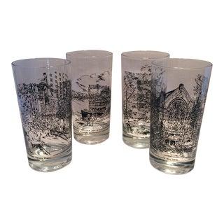 Calvin Williams Cincinnati Landscape Glasses - Set of 4 For Sale