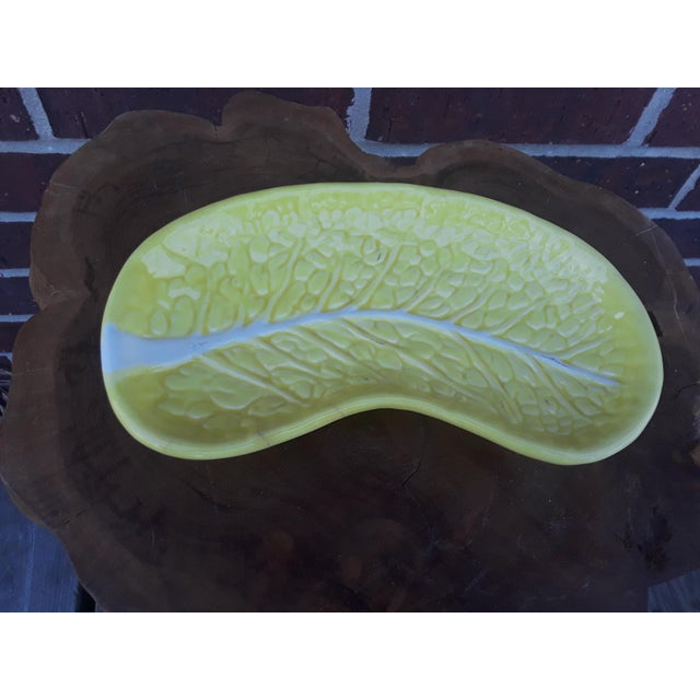 Yellow Cabbage Leaf Saucers Salad Plates After Dodie Thayer - Set of 4 For Sale - Image 8 of 9