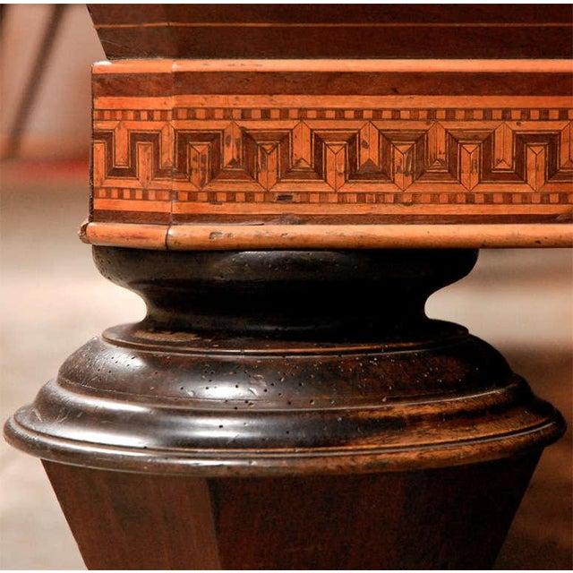 1860s Italian Carom Mahogany Billiard Table With Inlay For Sale - Image 9 of 12