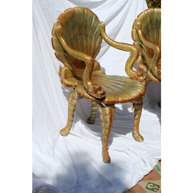 Pair of Venetian Grotto Chairs 20c. For Sale - Image 4 of 6