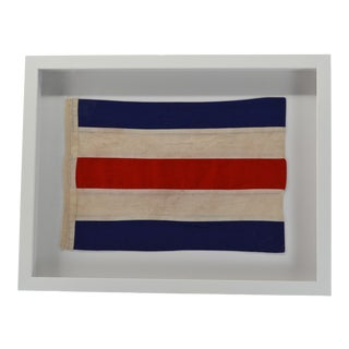 """C"" Signal Flag in Shadow Box Frame For Sale"
