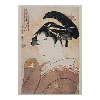 """1980s """"Infrequent Love"""" Print by Utamaro"""