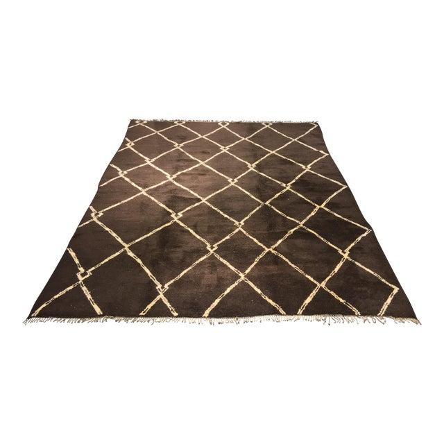 "Organic Moroccan Wool Rug - 9'3"" x 11'4"" - Image 1 of 9"