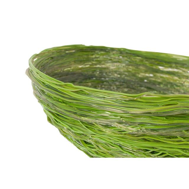 Modern Gaetano Pesce Green Resin Spaghetti Bowl for Fish Design For Sale - Image 3 of 7