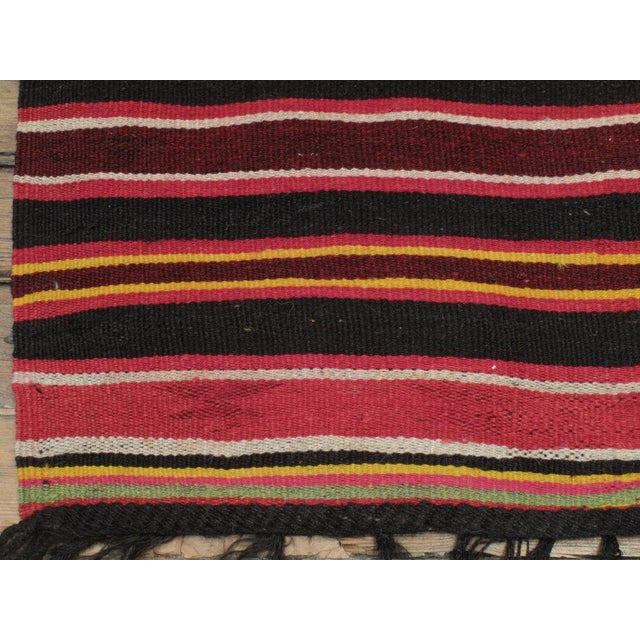 1950s Pair of Banded Kilims For Sale - Image 5 of 6