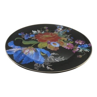 Mackenzie-Childs Enamel Floral Charger For Sale