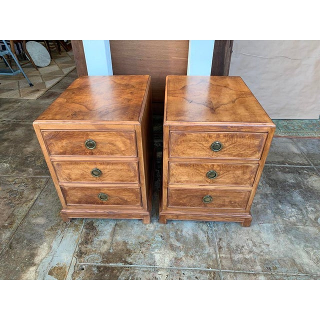 1960s Mid-Century Modern Burl Wood American of Martinsville - a Pair For Sale - Image 11 of 11