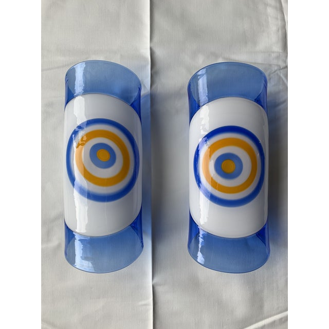 1970s Vintage Gianmaria Potenza for La Murrina Italian Murano Art Glass Wall Sconces- A Pair For Sale - Image 12 of 12