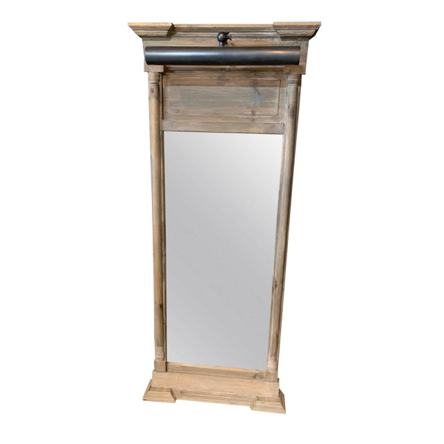 Classic Pillar Mirror With Light For Sale