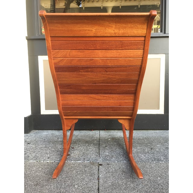 Solid Cherry Wood Rocking Chair For Sale - Image 9 of 11