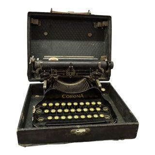 1912 Buffalo Emporium Authentic Corona Folding Portable Typewriter With Case