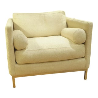 Modern Plush Armchair by ICF 1960s For Sale