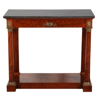 1820s French Mahogany Empire Console Table For Sale