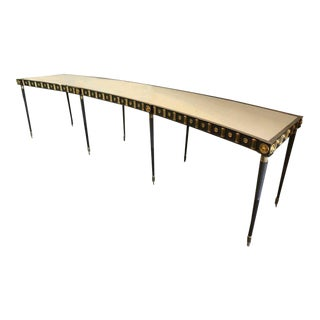 Maison Jansen Monumental Concave Steel And Bronze Console / Sideboard