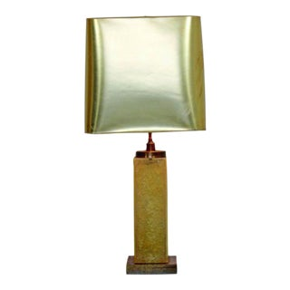 Mid Century Modern Marie Claude De Fouquieres French Resin Table Lamp 1970s For Sale