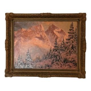 C.1940's Laszlo Neogrady Original Oil on Canvas Painting For Sale