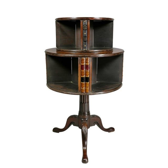 George III Style Mahogany Revolving Bookstand For Sale - Image 4 of 9