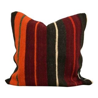 Turkish Stripe Design Tribal Kilim Pillow Cover For Sale