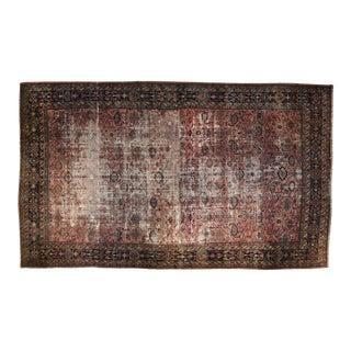"""Vintage Distressed Fragment Bibikabad Carpet - 12'1"""" X 19'6"""" For Sale"""