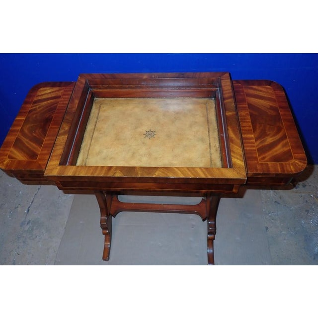 Maitland - Smith 20th Century Federal Maitland Smith Reversible Inlaid Game Table For Sale - Image 4 of 11