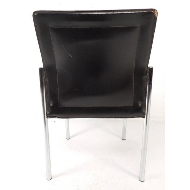 Mid Century Modern Leather Dining Chairs Set Of 4 Chairish