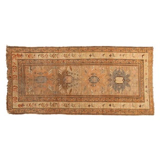 "Antique Caucasian Rug Runner - 3'10"" X 8'4"" For Sale"