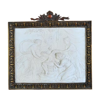 Sevre 18th C. Original Methological Bisque Plaque For Sale