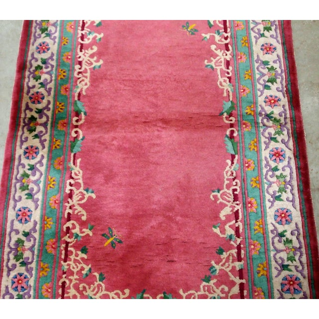 1930s Handmade Antique Art Deco Chinese Rug 2.10' X 5.10' For Sale In New York - Image 6 of 9