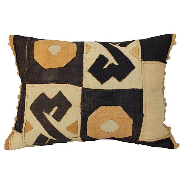 African Kuba Patchwork Pillow For Sale