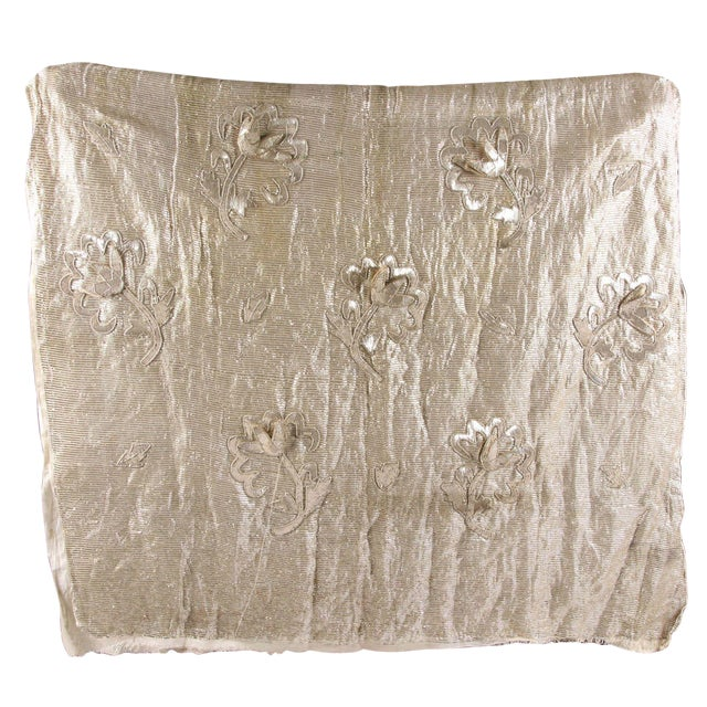 French 1930s Silver Thread & Sequin Fabric - Image 1 of 7