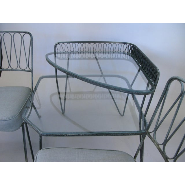 1950s Pair of Italian 1950s Lounge Chairs and Table by Salterini For Sale - Image 5 of 9