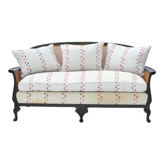 Chinoiserie Cane Back Settee Sofa
