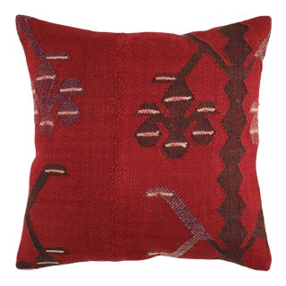 """Rich Red Kilim Pillow 