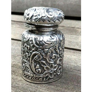 Antique Victorian Solid Sterling Silver Scent Perfume Bottle Preview